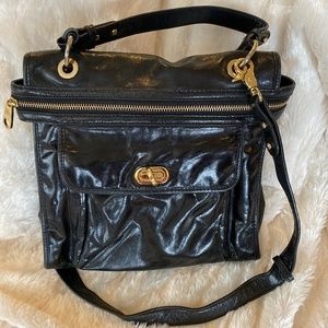 Badgley Mischka Black Leather Bag